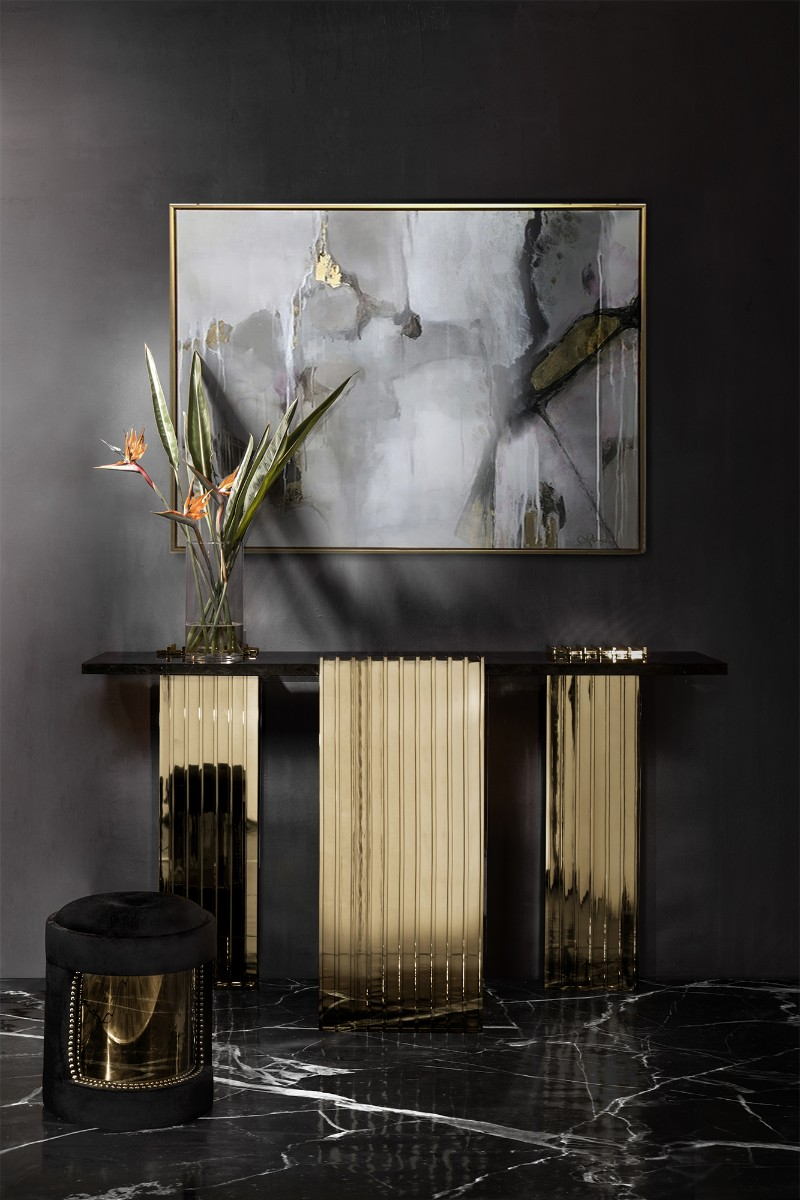 Luxury Black Console Tables For A Modern Living Room black console tables Luxury Black Console Tables For A Modern Living Room black console tables for living room 4