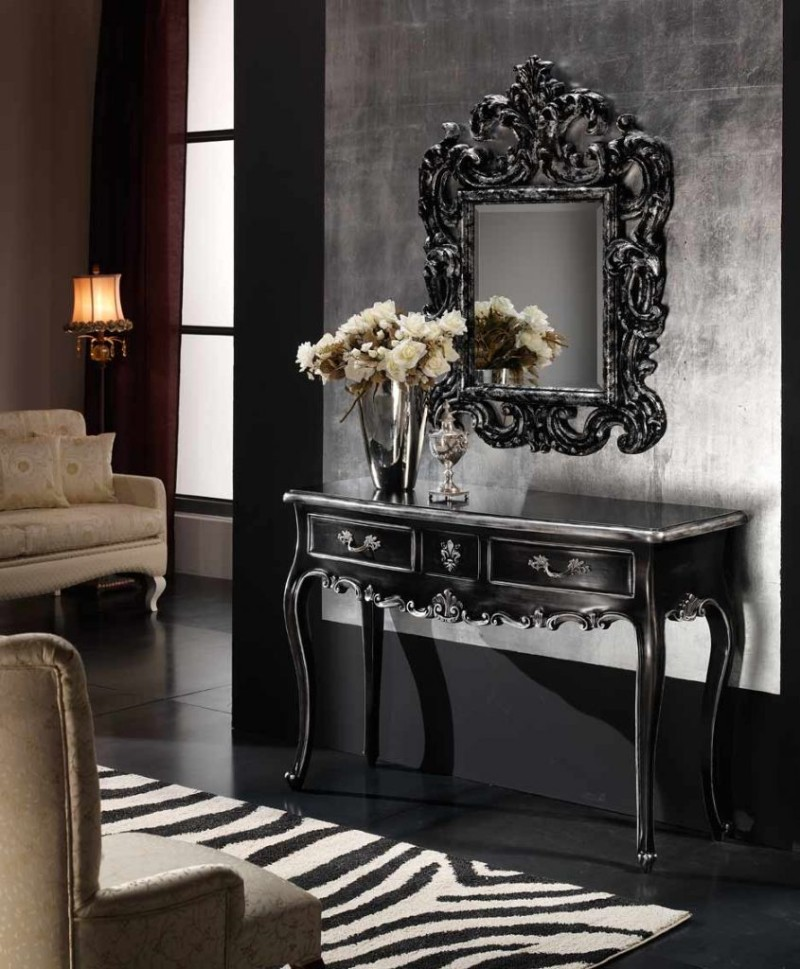 black console tables Luxury Black Console Tables For A Modern Living Room black console tables for living room 6