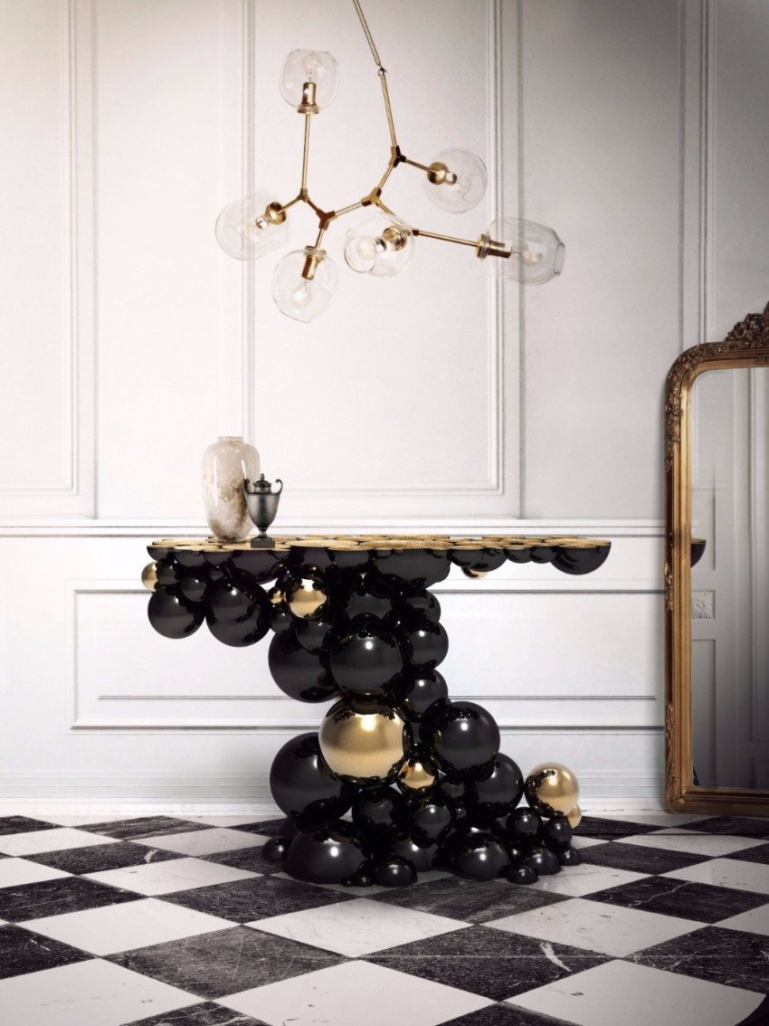luxury black console tables, luxury interiors, luxury furniture, exclusive design, interior design, home décor, interior design, console table Luxury Black Console Tables Luxury Black Console Tables for a Modern Interior Design Luxury Black Console Tables For a Modern Interior Design