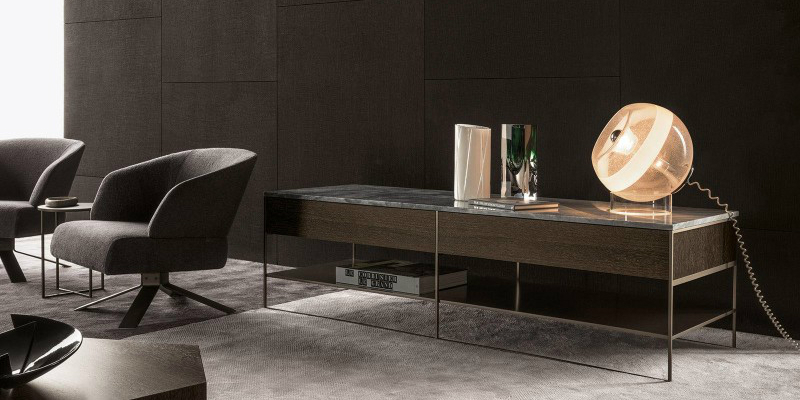 console table 10 Slender And Elegant Console Tables for Small Spaces calder bronze console minotti