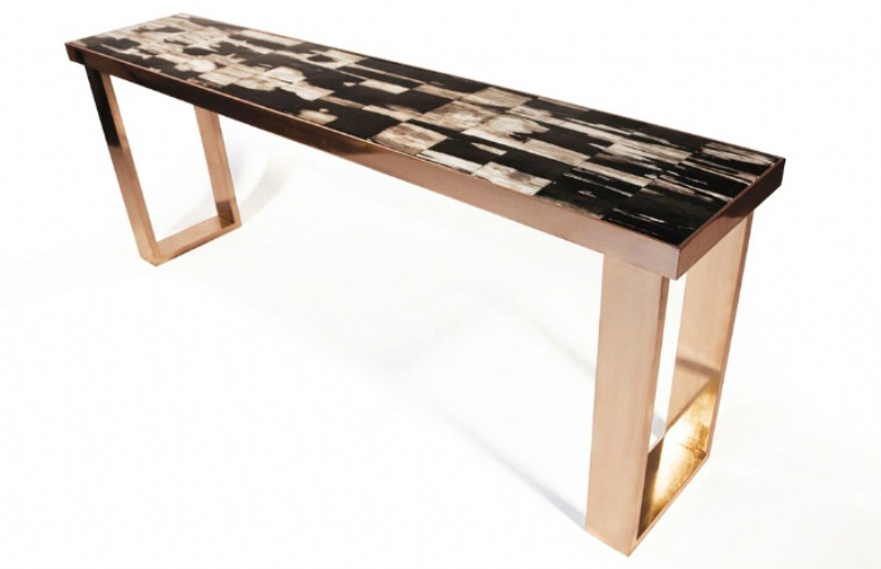 modern console tables, interior space, living space, contemporary furniture, interior design, home décor, luxury brand, console table console table Discover The Most Supreme Console Table Trends For 2019 large PETRIFIED WOOD CONSOLE1