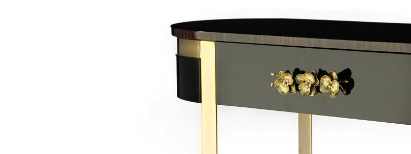 console table 10 Slender And Elegant Console Tables for Small Spaces orchidea console KOKET 2