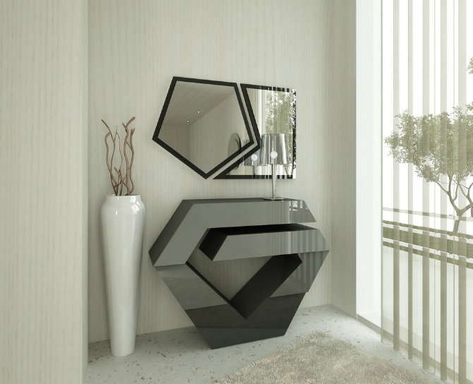 Modern Living Room Design with Console tables