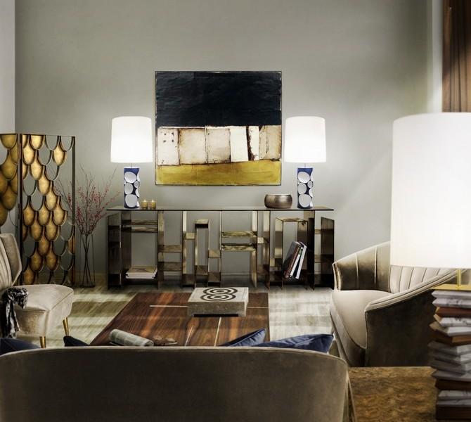 Brabbu Console Table modern living room Modern Living Room Design with Console tables brabbu ambience press 31 HR 670x600