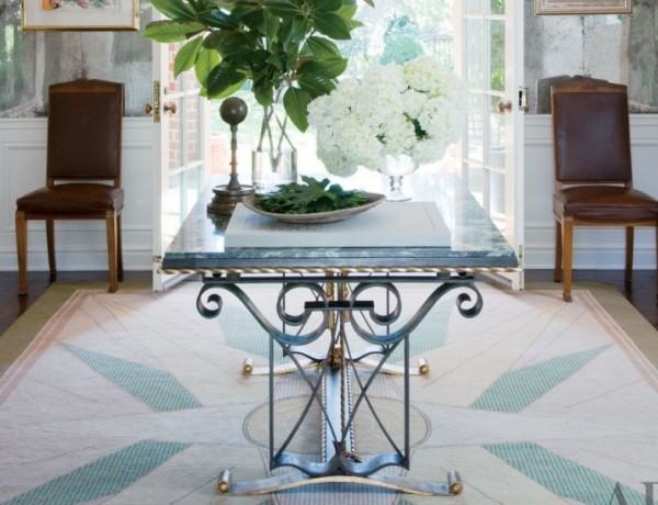 gorgeous console tables gorgeous console tables 10 Gorgeous Console Tables for A Summer Décor Blue metal console e1459269023427 600x460