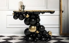 modern console table golden console tables Golden Console Tables by Boca do Lobo ft 19 240x150