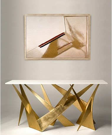 gold and white console table 10 Stunning Gold and White Console Table Designs whitecold andewwilliams 380x460