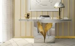 modern console table Boca do Lobo showcases modern console tables at Salone del Mobile ft 240x150