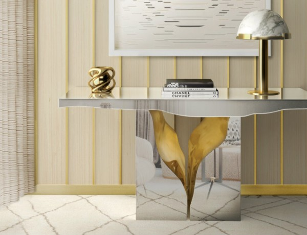 modern console table Boca do Lobo showcases modern console tables at Salone del Mobile ft 600x460