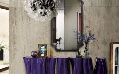 Monochrome Console Table lacquered console tables 6 Stunning Lacquered Console Tables for A Trendy Interior monochrome purple 04 240x150