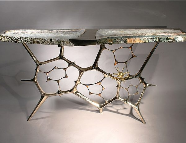 Rare design taylor llorente 10 Elegant Console Tables Designed by Taylor Llorente sculptural console table a1 600x460