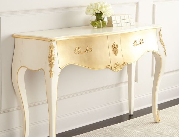 console tables in metal leaf 9 Inspiring Console Tables in Metal Leaf Parisian Console 600x460