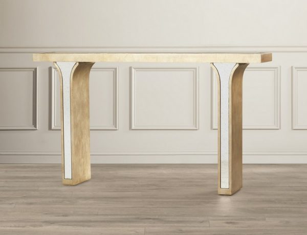 mirrored consoles Mirrored Consoles to Enlarge Your Interior mirror Spacey Katya Console Table MRCR1867 600x460