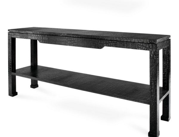Console Table Ideas Console Table Ideas adlerpreston console black 600x460