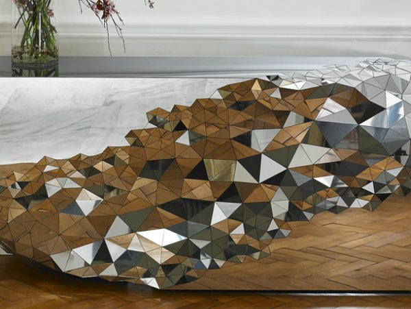 console tables The Most Amazing Diamond Inspired Modern Console Tables StellarmirrorandConsole JakePhipps HRlifestyle 1 600x451