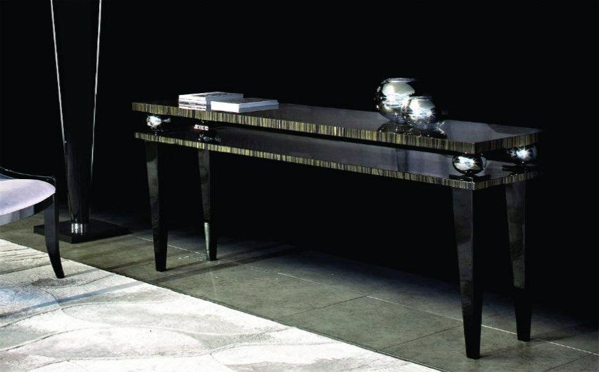Elegant Black Modern Console Tables