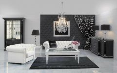 Console Tables Luxury Console Tables for a Glorious Home black white interior design living room with white tufted sofa ideas also wooden glass coffee table on the black carpet and console table regarding white and black living room furniture 240x150