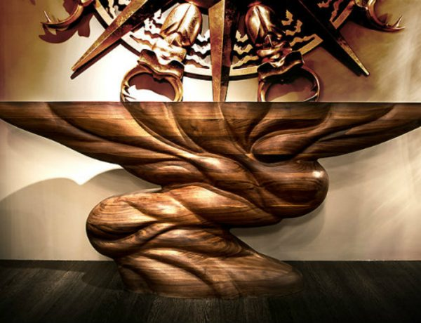 Console Table The Best of Modern Console Table Designs carved walnut console m 1 600x460