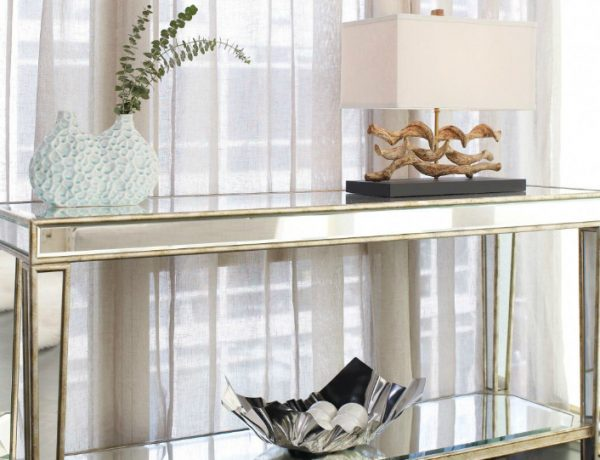brass and mirror modern console tables Best Brass and Mirror Modern Console Tables furniture entry narrow mirrored console table with storage and shelf plus brass frame beside window with white curtains ideas mirrored console table mirrored console table with storage C  pia 600x460