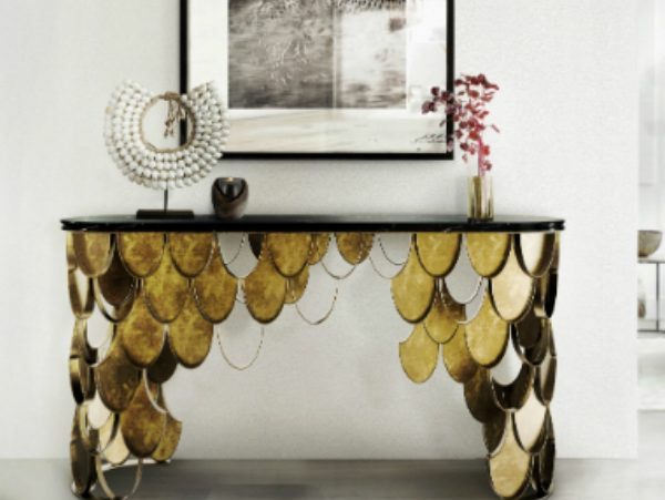 console table Get inspired with Striking Console Tables for your Entry Hall capa brabbu ambience KOI 55 HR 600x451
