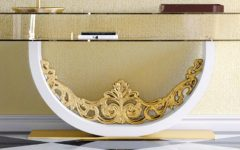 console tables Luxurious Golden Modern Console Tables Gold Console table 2 CAPA 240x150
