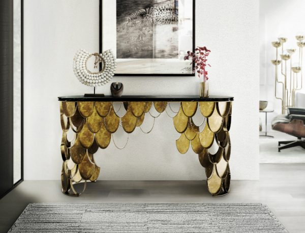 marble console table Top 10 Interior Inspiration Ideas with Marble Console Tables Koi Console Table Marble Brabbu featured 870 600x460