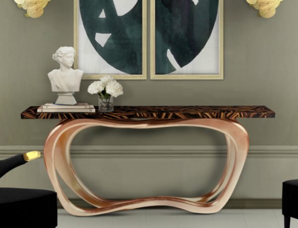 console tables Eye-Catching Console Tables That Fit Your Living Room And Entryway infinity console fff 600x460