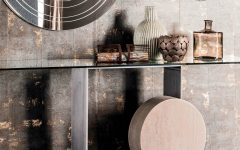 console tables 10 Glass Minimalist Console Tables for Modern Entryway featured 240x150