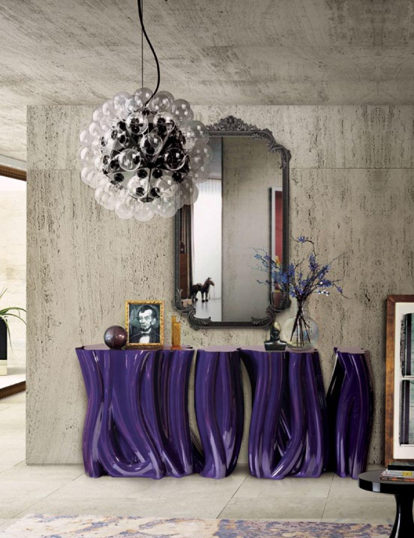 contemporary console table Take A Look At This Dazzling Contemporary Console Table 8 1