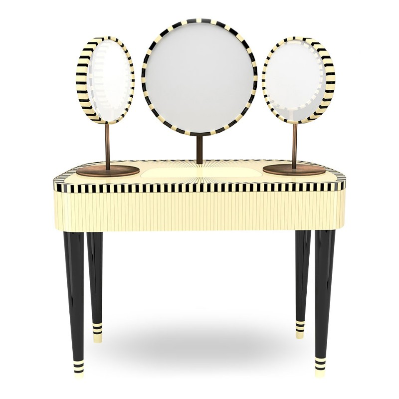 The Most Outstanding Consoles By Scarlet Splendour scarlet splendour The Most Outstanding Consoles By Scarlet Splendour 5ac5e3e1e64fe woman in paris dressing table vanillanoir inlay