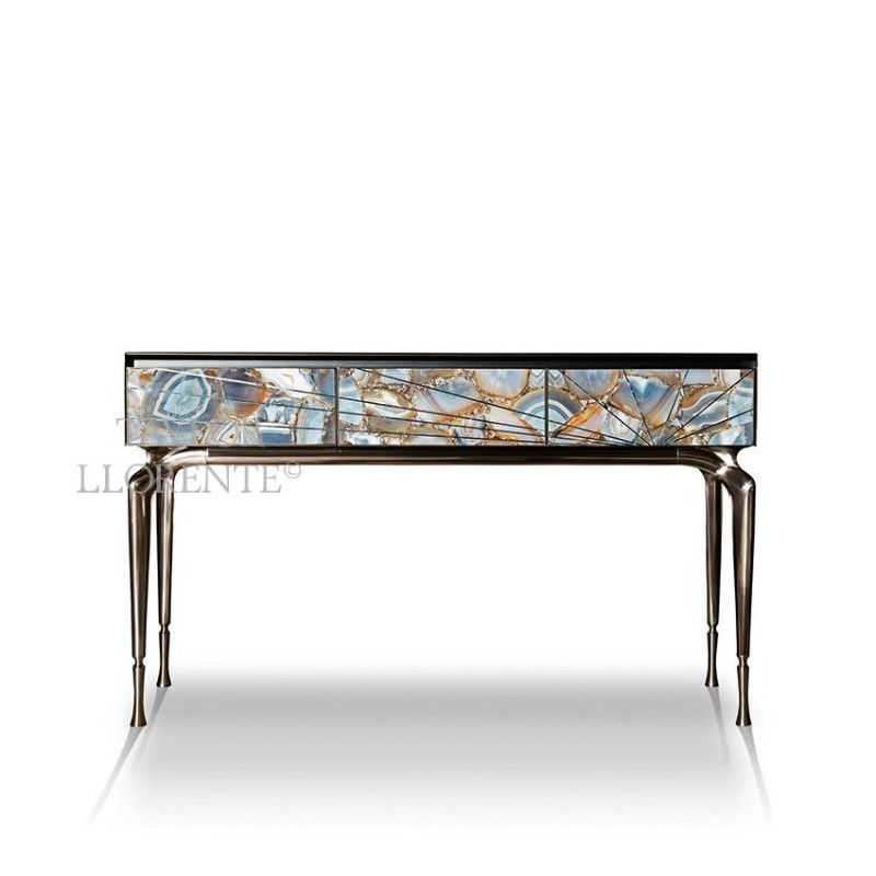 console furniture entryway console tables Taylor Llorente's Entryway Console Tables to Inspire You agate stone