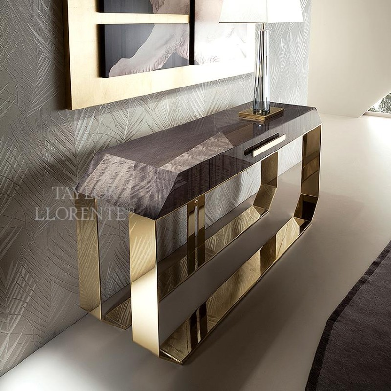 console table design entryway console tables Taylor Llorente's Entryway Console Tables to Inspire You gold frame console
