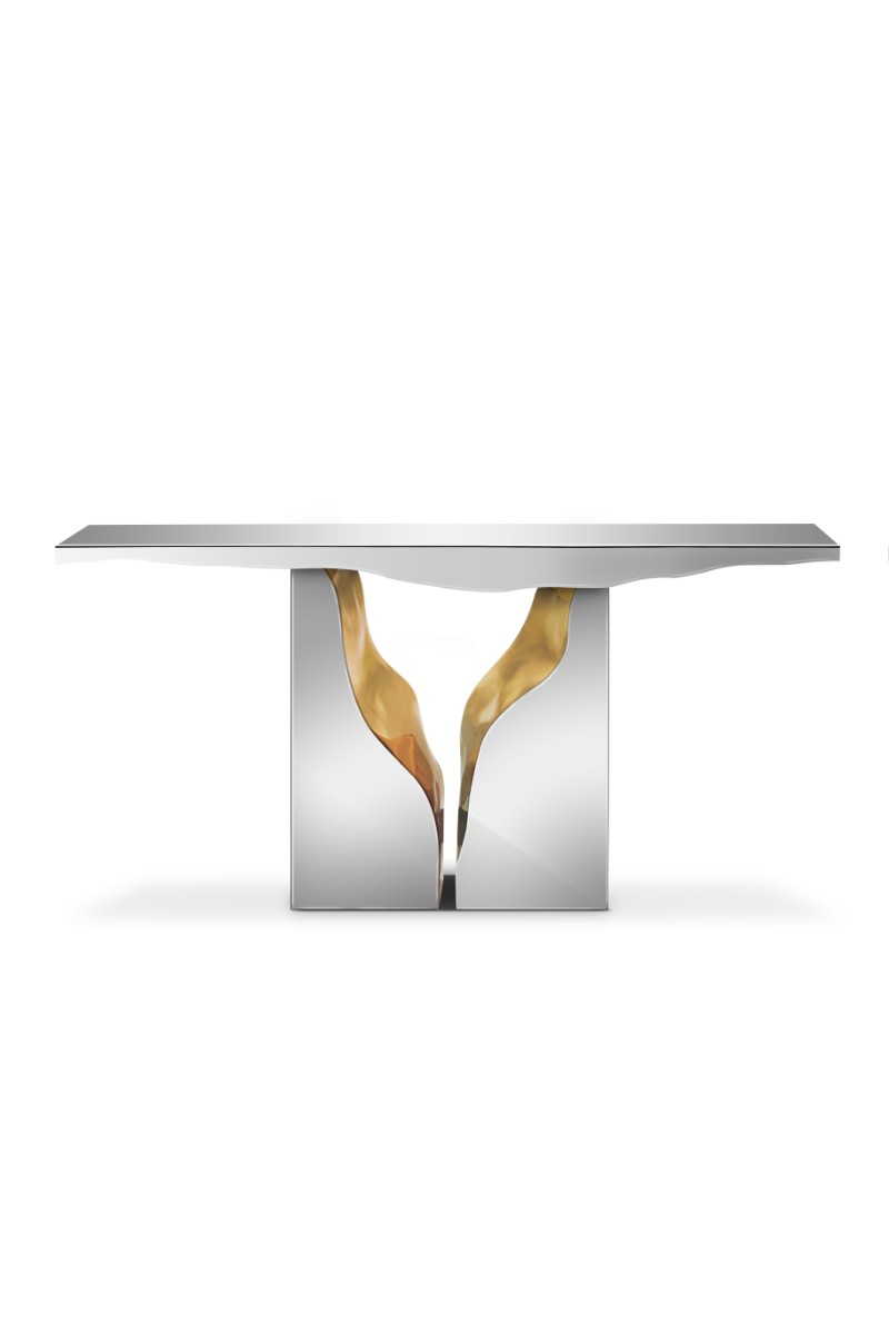 modern console tables Modern Console Tables By Luxury Brands That Will Be In AD Show 2019 lapiaz console 01