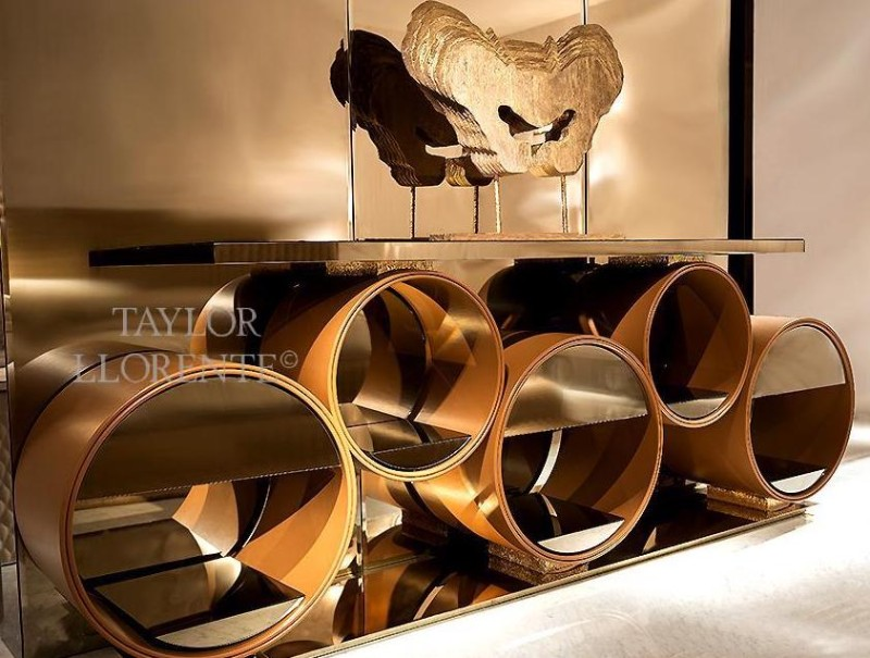 entryway console tables Taylor Llorente's Entryway Console Tables to Inspire You leather console table 1