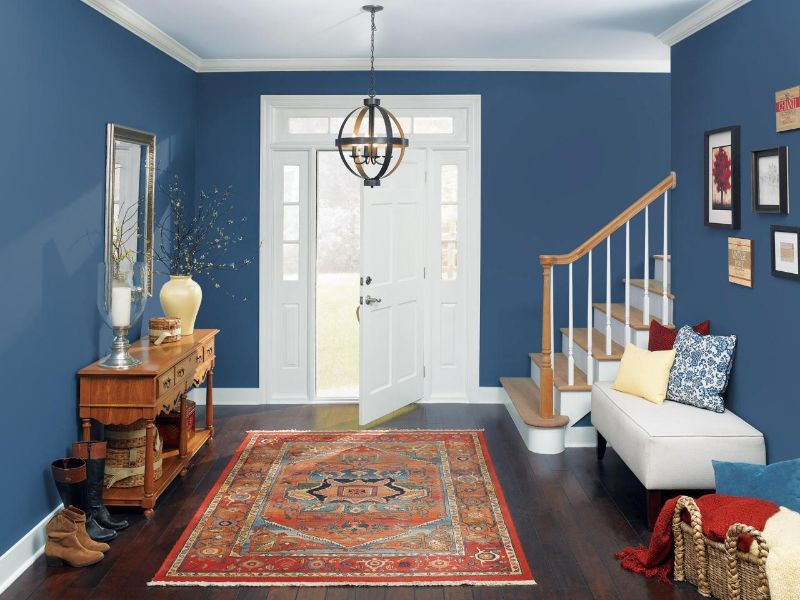 entryway Color Ideas for Your Modern Entryway blue3 1