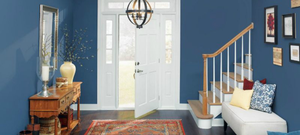 entryway Color Ideas for Your Modern Entryway blue3