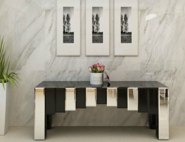 mirrored console table Mirrored Console Table Designs To Inspire You feat 600x460
