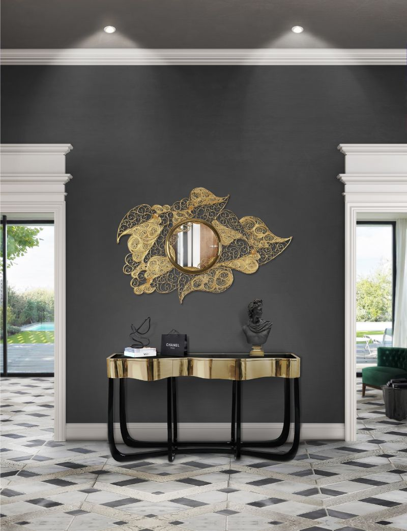 modern console tables Modern Console Tables by Top Furniture Brands filigree mirror hr 01