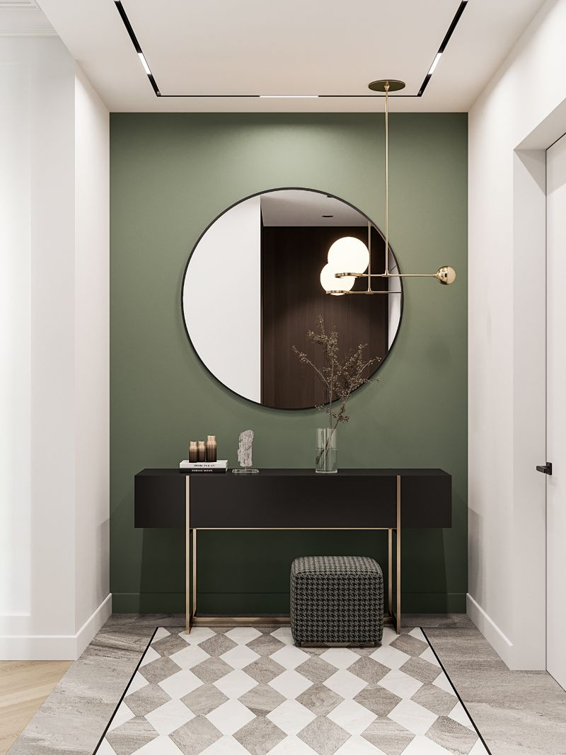 entryway Color Ideas for Your Modern Entryway green