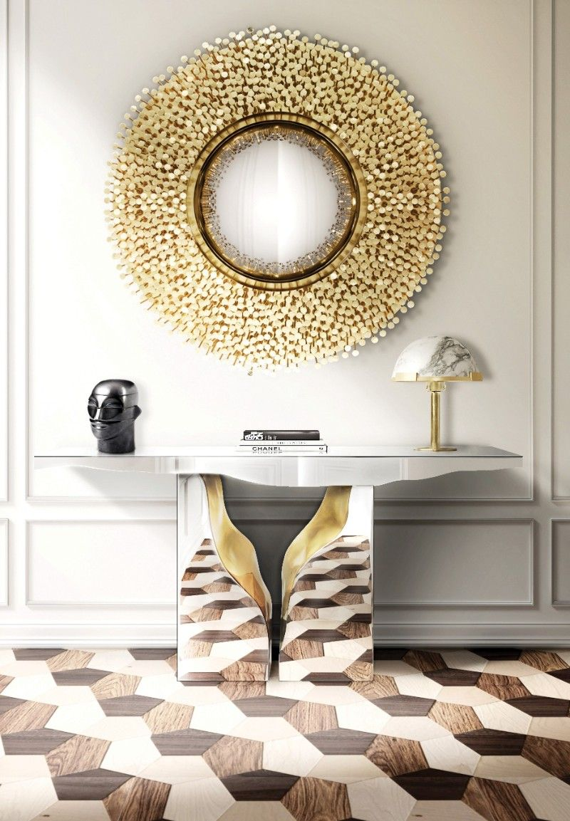 Mirrored Console Table Designs To Inspire You mirrored console table Mirrored Console Table Designs To Inspire You lapiaz console 04
