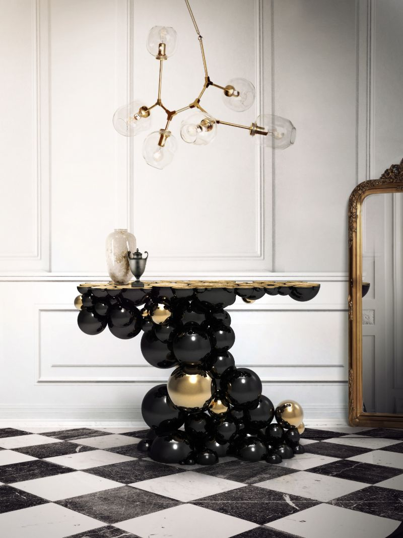 black console tables black console tables Black Console Tables that You Will Love newton console limited edition boca do lobo 01 1