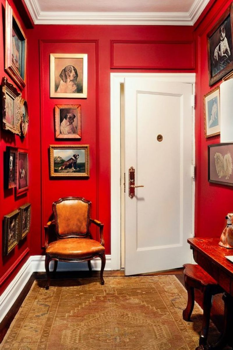 entryway entryway Color Ideas for Your Modern Entryway red