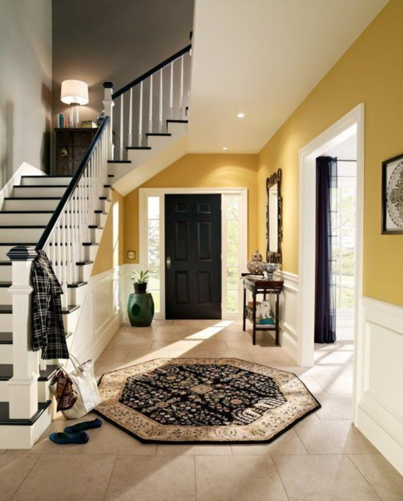 entryway Color Ideas for Your Modern Entryway yellow2