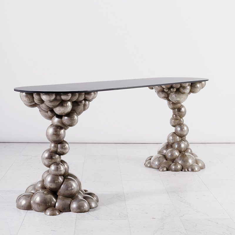 console table Console Table Ideas by Todd Merrill Studio ERIN SULLIVAN BUBBLE CONSOLE 160623 CSG TODD MERRILL 2095 V1 web 800x800 modern console tables Modern Console Tables For Collectable Design Lovers ERIN SULLIVAN BUBBLE CONSOLE 160623 CSG TODD MERRILL 2095 V1 web 800x800