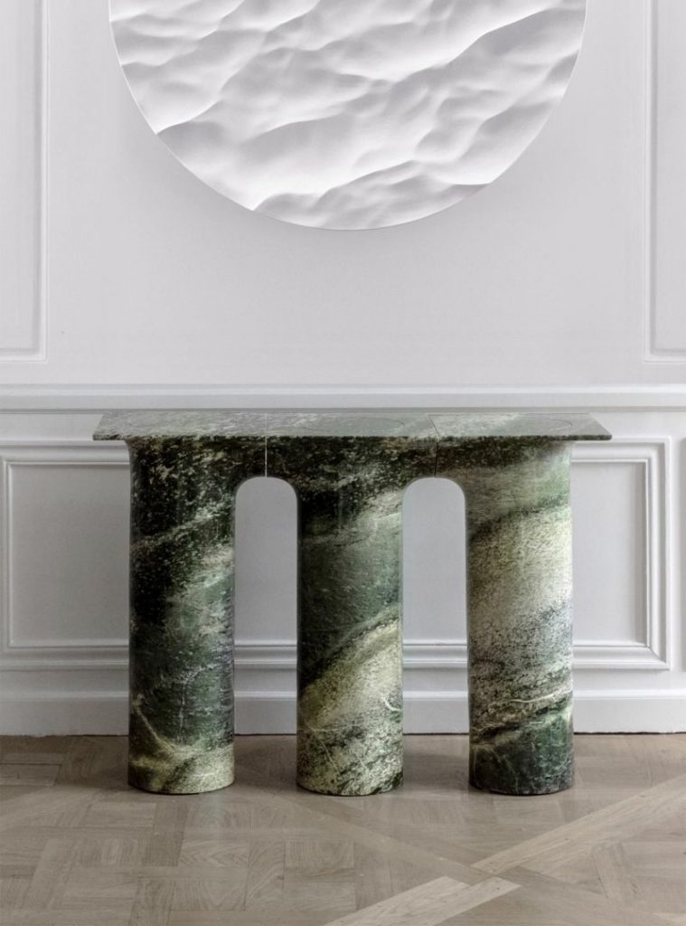 console table Creative Console Table Designs that will Amaze You Matthieu Lehaneur 759x1024