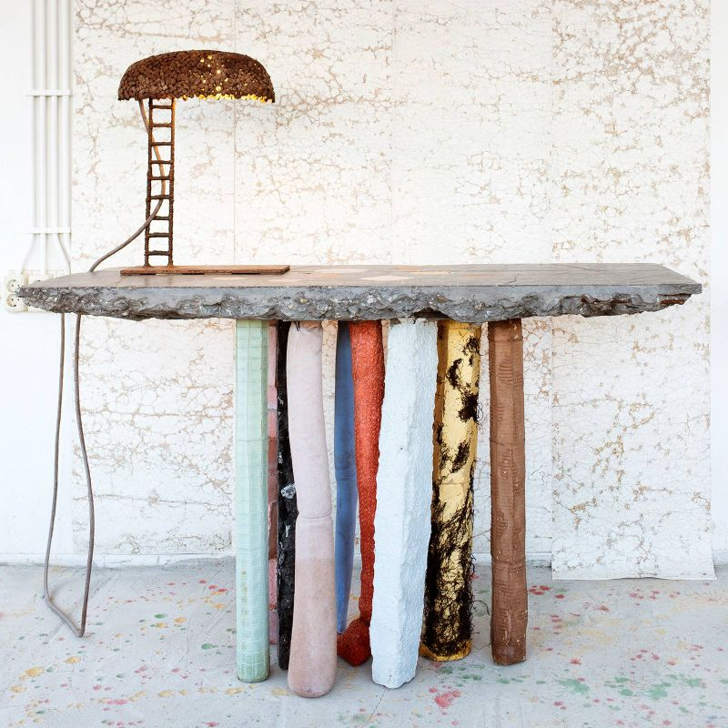 console table Creative Console Table Designs that will Amaze You Nacho Carbonell Fossil console 2 org