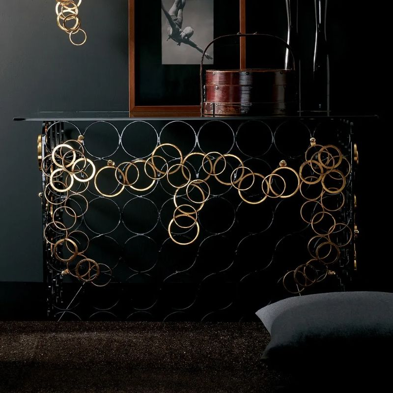 Contemporary Console Tables For Your Living Room contemporary console tables Contemporary Console Tables For Your Living Room high end hand crafted contemporary italian console table 7