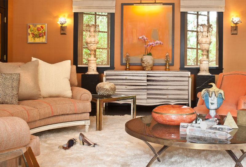 living room design Color Ideas for Your Living Room Design orange