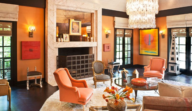 living room design Color Ideas for Your Living Room Design orange2 1