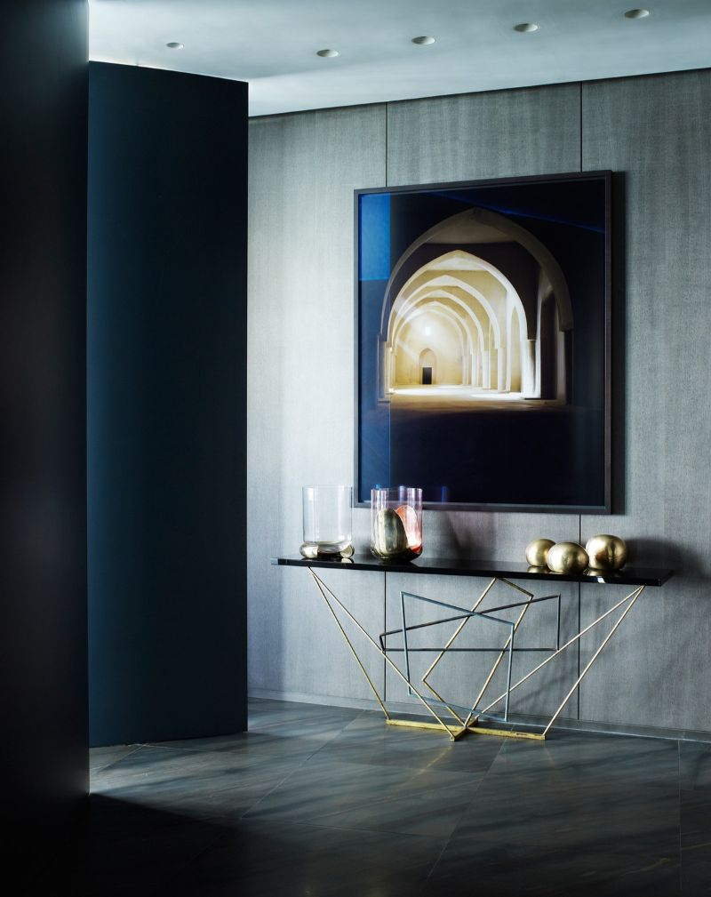 console table Creative Console Table Designs that will Amaze You yabu pushelberg interior